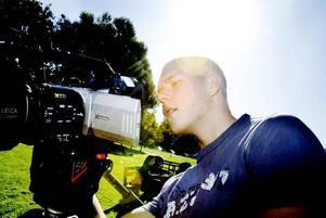 Max Hölzl 18 år, är en av de mediestudenter vid Borgarskolan i Gävle som ska dokumentera miljöveckan.