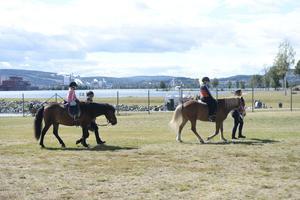 Kön var lång till att få prova på att rida häst.
