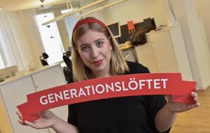 SSU-ordföranden Ellinor Eriksson gladdes åt att hon fick med sig partikongressen på projektet