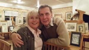 Anne-Lie Gyllbäck och hennes man Mike, från amerika, ser fram mot julen.