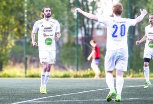 Nermin Celjo och Johan Persson – SFF:s målskyttar i finalen mot Bollnäs.