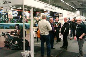 Twin Club är på plats i Göteborg för att marknadsföra sommarens Custom Bike Show.
