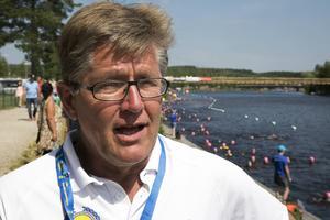 Jan Palander, Vansbrosimningens generalsekreterare har allt under kontroll inför den intensiva tävlingsvecka som väntar.