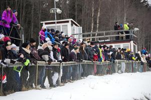 En hel del publik hade letat sig till tävlingen i Njurunda.