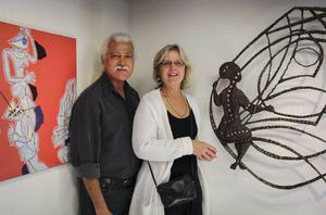 Luis Deza och Ina Strömberg ställer ut sina verk på Kvarnen under april månad.
