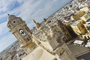 Cádiz skyline sedd från en av katedralens torn.   Foto: Anders Pihl