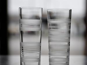 Glasserien Slowfox tillverkade vid Orrefors.