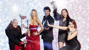 Anders Sebring, Anna Hanning, Martin Häggström, Josefine Wallgren och Sofia Bertlin underhåller på kasinot i december.
