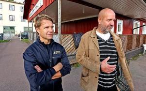 Per-Olof Engholm och Mats Torstensson tycker att säkerhetsfrågorna är viktiga. Foto: Johnny Fredborg