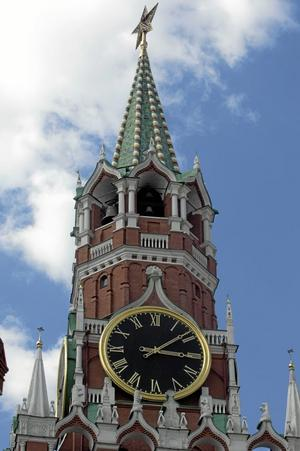 hot mot Sverige? Bilden föreställer klocktornet på Kreml på Röda torget i Moskva.Foto Leif R Jansson /TT