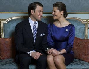 Kronprinsessan Victoria och Daniel Westling. FOTO: SCANPIX