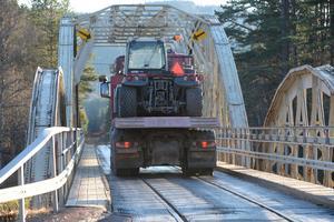 Oxbergsbron är nu stängd för trafik.