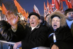 Ilska. Putin-motståndare samlades i måndags för att protestera. Den nye presidenten riskerar också att få sina anhängare emot sig. arkivbild: Mikhail Metzel/scanpix