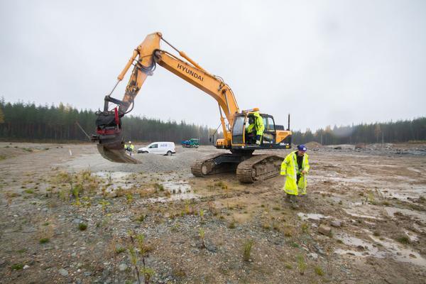 Byggpartner har redan börjat med de första markarbetena på Fårbo.