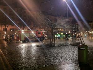 Inte mycket återstår av bocken på Järntorget.