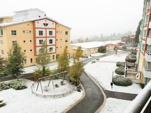 I Åre låg snön i ett tunt täcke på onsdagsmorgonen och under dagen har snön fallit på flera platser runt om i länet.
