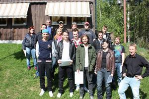 Efter ett års studier går den första kursen YH-studenter ut från Alfta som välutbildade skogsmaskinförare.