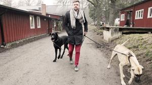 Älsklingarna. Kungsörssonen Fredrick Federley, med grand danois-hundarna Nancy och Elsa. När Fredrick och hans man Johnny är på resande fot (vilket är ofta) brukar Elsa och Nancy bo i Nykvarn, på hunddagis.