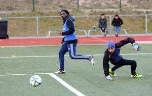 Jodå, Alieu Joof hittade målet även när tidingen besökte IFK Hedemoras träning.
