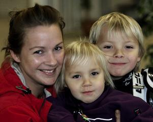 Anna-Maria Klang, 31, marknadskordinator, Sundsvall, tillsammans med barnen Klara Andersson, 3 och Jacob Andersson, 6Jag tycker att det var det, men jag tycker att Jesper var bra också.