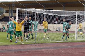 Micke Svensk gjorde viktiga 2-1 för Ljusdal strax före paus.