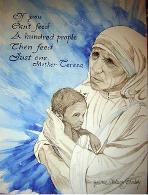 Tavlan av Moder Teresa.