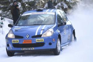 Robert Eriksson, Eskilstuna , i en Renault Clio