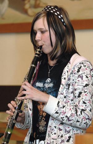 Josefin Persson spelade klarinett.
