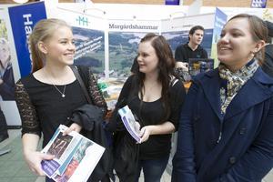 Ekonomistudenterna Sara Haglund, Marina Lönneryd och Anna Di Padova blev positivt överraskade av arbetsmarknadsmässan Propellern.