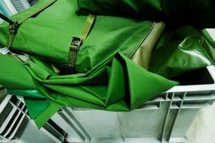 För tillfället har Lindevalls bara inne en prototyp av det nya tältet. Nästa vecka drar produktionen igång på allvar.Foto: Ulrika Andersson