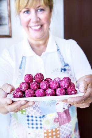 En expert på praliner och brända mandlar. Margareths favorit på sommaren är lakritsbumlingar.