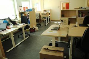 Lärarlaget årskurs 7 har flyttat in i sitt nya arbetsrum. På måndag börjar höstterminen.