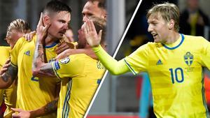 Mikael Lustig och Emil Forsberg är båda nominerade till pris på Fotbollsgalan.