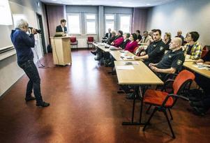 Håkan Axelsson på MSB var en av talarna på mångfaldskonferensen.
