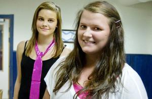 Emma Jonsson och Erica Evertsson är två av tjejerna som ska delta i kvällens evenemang på Lillsjögården.