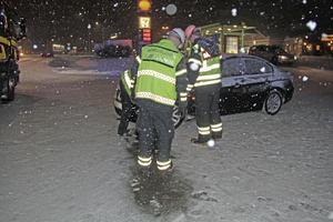 Ingen skadades allvarligt vid olyckan i Dalahästområdet i Avesta.