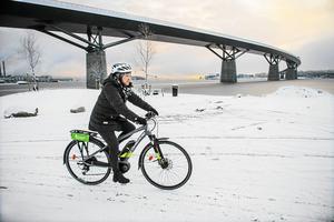 – Trots denna extrema vinter så svarade hela 75 procent av vintercyklisterna att de kommer cykla nästa vinter, säger Johanna Keil.