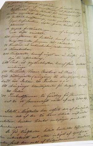 Dokument från 1867 skriven av SJ:s första trädgårdsdirektör, Olof Eneroth.