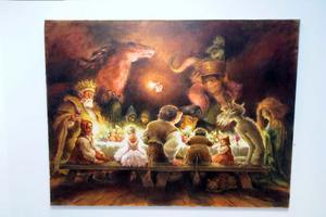 Från sagan Älvakullen, där Älvakungen bjuder in till fest.