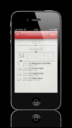 Jonas Erickson räknar med att ha sin nya veckokalender-app klar om två veckor.