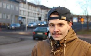 Falu IF:s forward Patryk Kaczmarek är uttagen i Polens JVM-trupp i ishockey. B-VM för J20 går i hans hemland Polen i december. Foto: Bengt Pettersson