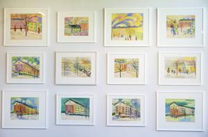 Målningar av Ester Henning.