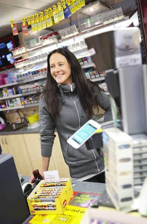 Natalie Carlsson, butiksbiträde på Time, förhindrade en butiksstöld på måndagskvällen.