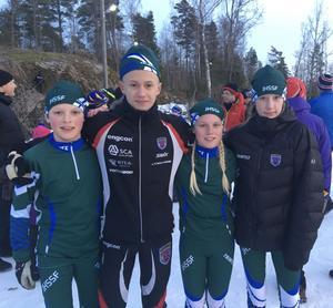 J/H:s bronslag i stafetten: Emil Tänglander, Aksel Halvarsson, Alicia Sellsve och Tea Strömqvist,  alla från Tullus SG.