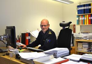 Patrik Sundlöf är stationschef vid polisen i Timrå.