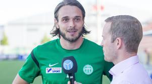 Emir Smajic under Sportens livesändning från Solid Park.