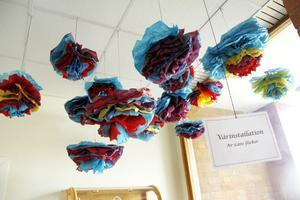 Elever i Gnarps skola visade upp sina arbeten.