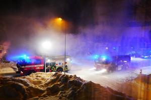 Bilbranden orsakade skador på ett garage.