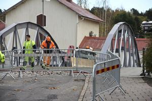 Järnbron mellan Alen och den nya busscentralen.