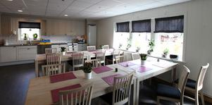 Här i matsalen kan gästerna äta sin frukost.
